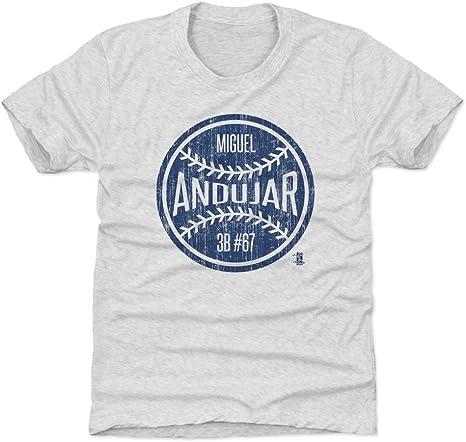 Camisa de béisbol para niños Miguel Andujar New York de 500 letras - E-C-TKDTTRA-XX-0037-023-01-BAZ, Atlético, Kids Small (6-7Y), Tri Ash: Amazon.es: Deportes y aire libre