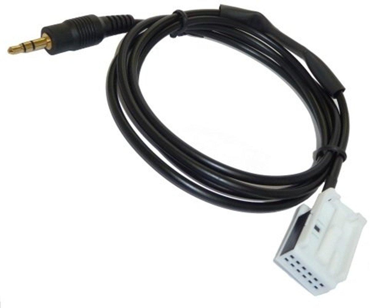 Glanz AUX Adapter Kabel BMW E60 E61 E63 E64 Fü r iPod/iPhone usw. Line In 12pol Shine Tec. SQC-0101