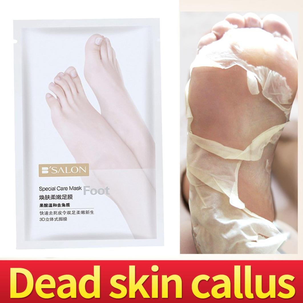 KFSO Hot Sale!!! Remove Dead Skin Foot Mask Peeling Cuticles Heel Feet Care Anti Aging Smooth