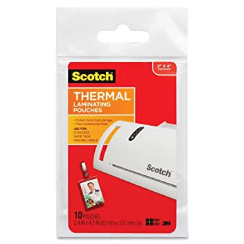 Amazon.com : Scotch Thermal Laminating Pouches ID Badge With Clip ...