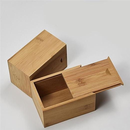 HUZHUANGZHUANG HZZymj Caja de bambú de extracción - Caja de bambú ...