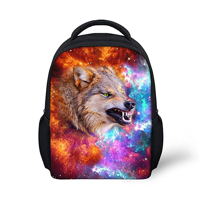 27cccdc4919 Amazon.com | CHAQLIN 3D Wolf Pattern Kindergarten Backpacking Space ...