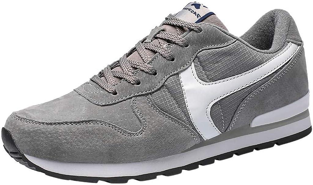 Zapatillas De Correr Hombre Mujer Par Estampado Patchwork Casual Cómodas Calzado para Deporte Zapatos para Andar Zapatillas De Running, Calzado De Correr JORICH (Gris, EU:44 27cm/10.6