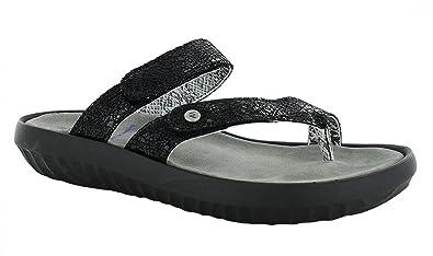 Wolky Comfort Sandals 00884 Bali - 40000 black craquelé leather - 36