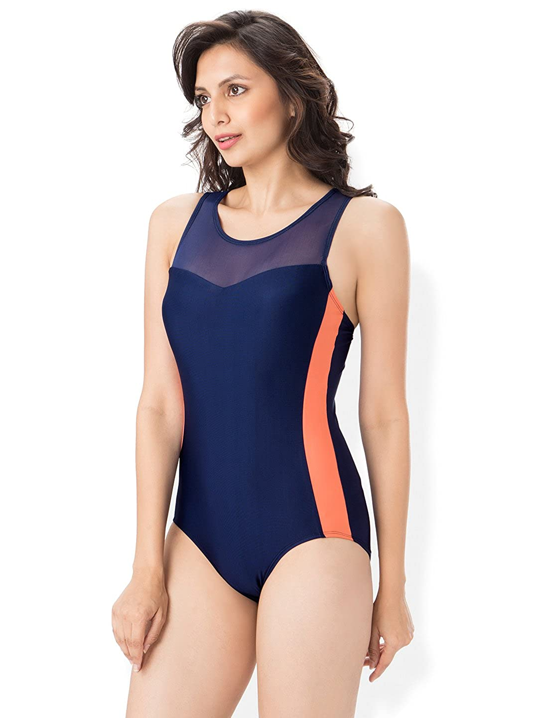 5bed68792f588 PrettySecrets Mesh Cut Out Swimsuit: Amazon.in: Clothing & Accessories