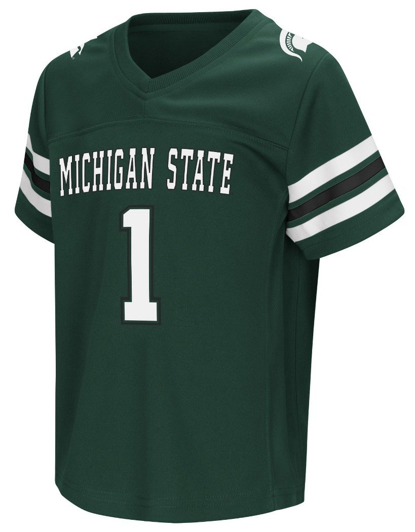 Michigan State Spartans NCAA Hail Mary Pass Toddler Football Jersey Colosseum
