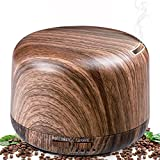 Aromatherapy Diffusers for Essential Oils, 300ml Wood Grain...