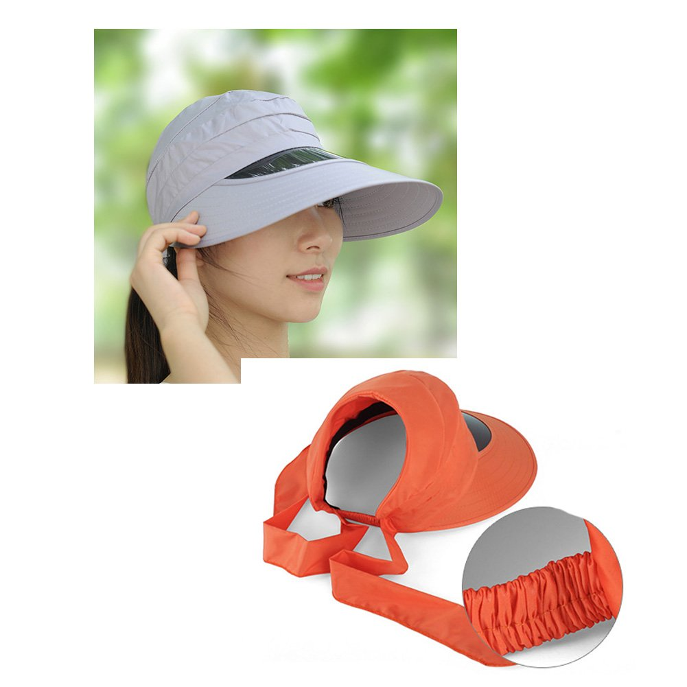 Ladies Large Brimmed UV Sun Protection Hat Sun Hat, Light Purple by Kylin Express (Image #2)