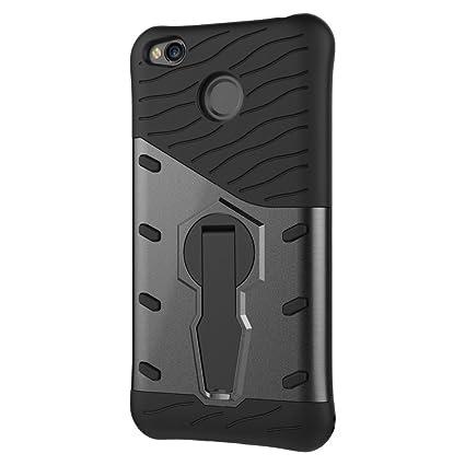separation shoes 32a5a eea13 Tarkan Redmi 4 [May 2017 Launch] Back Case - 360 Degree Kickstand Original  Sniper Cover for New Xiaomi Redmi 4 [Grey]