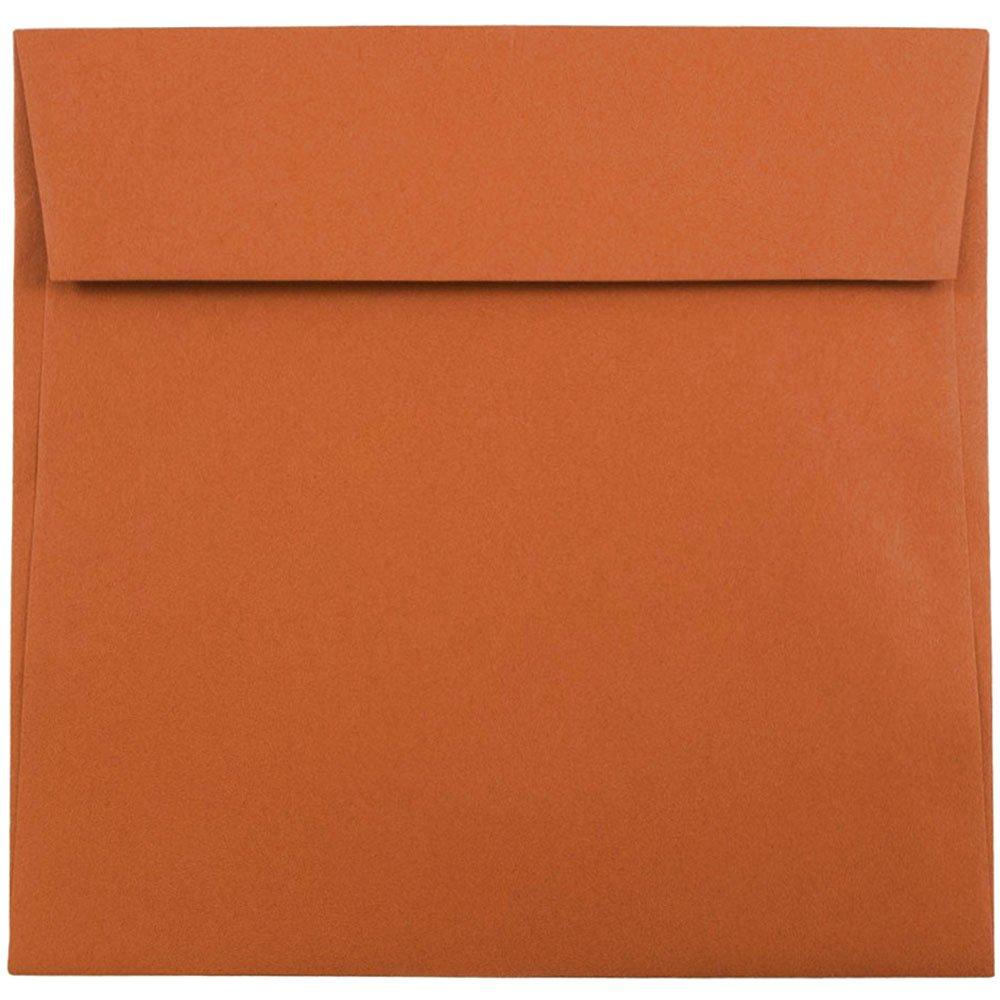 JAM Paper 6.5 x 6.5 Square Envelopes - Dark Orange - 1000/carton