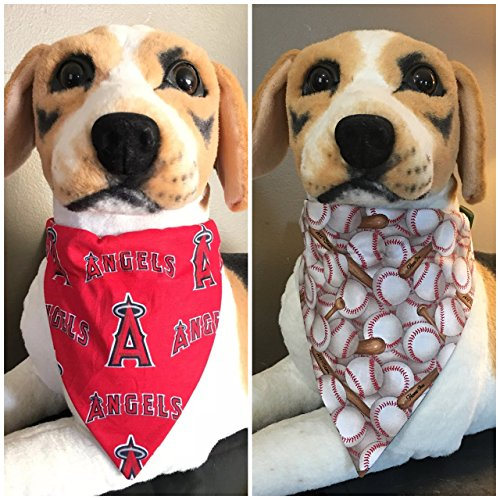 MLB Reversible Pet Bandana Los Angeles Angels Over The Collar