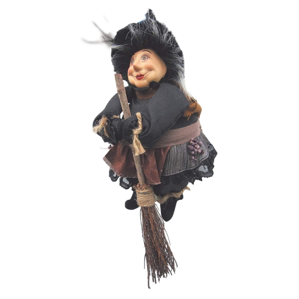 Witches of Pendle - Lavender Garden Witch Flying (Grey) 20cm 5900-3