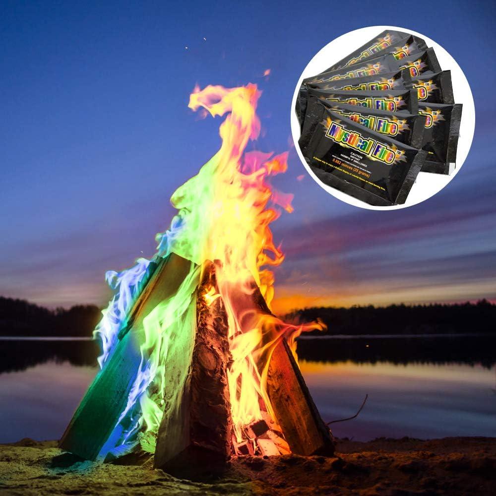Coloration du feu du camping