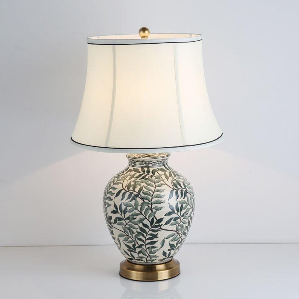 PIO Lampada da Tavolo in Ceramica Orientale, Stile Cinese Mandarino Perfetto per Tutti i soggiorni e Le camere da Letto - qualità superba [Classe energetica A ++], 38cm