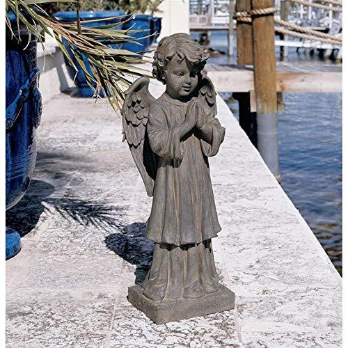 Design Toscano The Angel's Message Statue Finish: Antique Iron