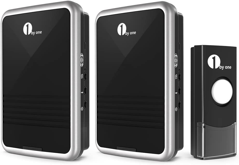 1byone Easy Chime Wireless Doorbell Kit, 2 Plug-in Receivers