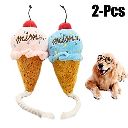 Perro Squeak Toy, Legendog 2Pcs Juguete De Peluche Para Perros Juguete Interactivo Para Perros Con