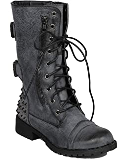 Amazon.com | Harley-12, Black PU, 6 B(M) US | Mid-Calf