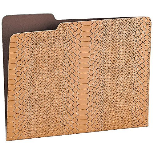 The CARLO File Folder BRITISH-TAN/Brown Embossed-Python Leather by Graphic Image - 8.5x11