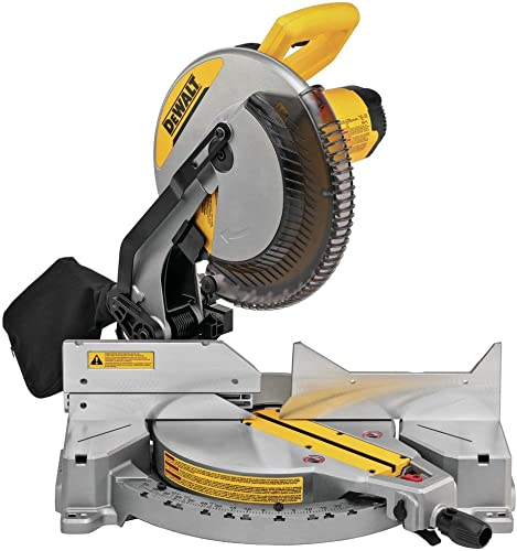 DEWALT 12-Inch Miter Saw, 15-Amp, Single Bevel, Compound DWS715