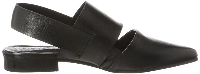 Open Slingback Shoe 25-49128, Mocassini Donna, Nero (Black), 37 EU Bianco