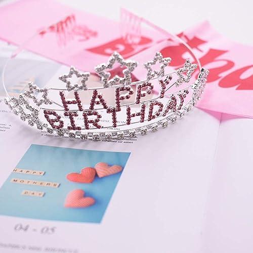 Corona Brillante de Birthday Girl Diadema, Niñas Banda ...