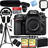 Nikon D7500 20.9MP DX-Format 4K Ultra HD Digital SLR Camera (Body Only) w/Tascam DSLR Audio Recorder and Shotgun Microphone + 128GB & 64GB Pro Video Bundle