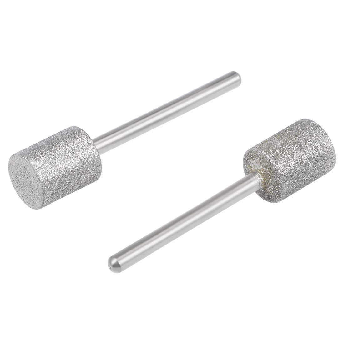 uxcell Diamond Mounted Points 12mm Cylinder Head 1//8 Inch Shank Grinding Rotary Tools Pack of 2