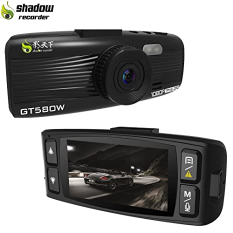 Amazon Com Shadow Gt580w Dash Cam Car Camera Recorder 1920x1080p