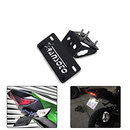 RONSHIN Kit de Marco de matrícula de Motocicleta para ...