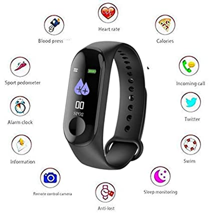 c1d4c3b9cde2 Cloud09 Intelligence M3 Health Bracelet and Activity Tracker Heart Rate  Monitor Band