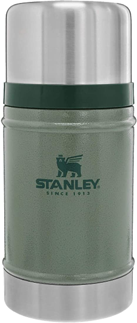 Stanley Classic Large Black 0.7L 24oz Vacuum Food Jar Flask Hot or Cold Thermos