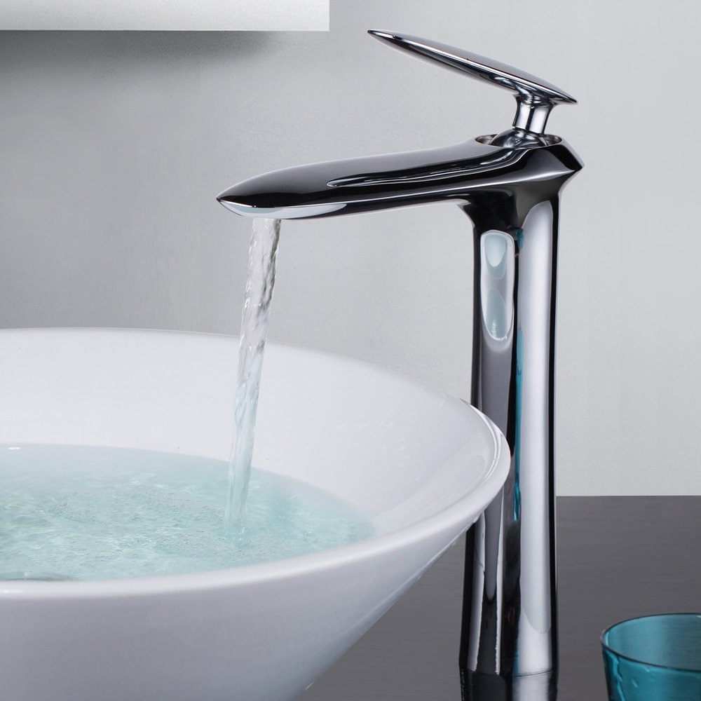 SUMERAIN Single Lever Single Hole Bathroom Vessel Mixer Tap Extended ...