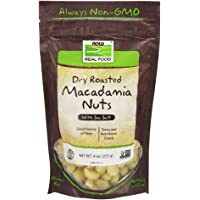 NOW Foods, Macadamia Nuts, Dry Roasted with Sea Salt, Source of Fiber, Gluten-Free and Certified Non-GMO, 9-Ounce…