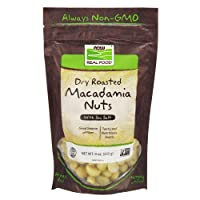 NOW Foods, Macadamia Nuts, Dry Roasted with Sea Salt, Source of Fiber, Gluten-Free...