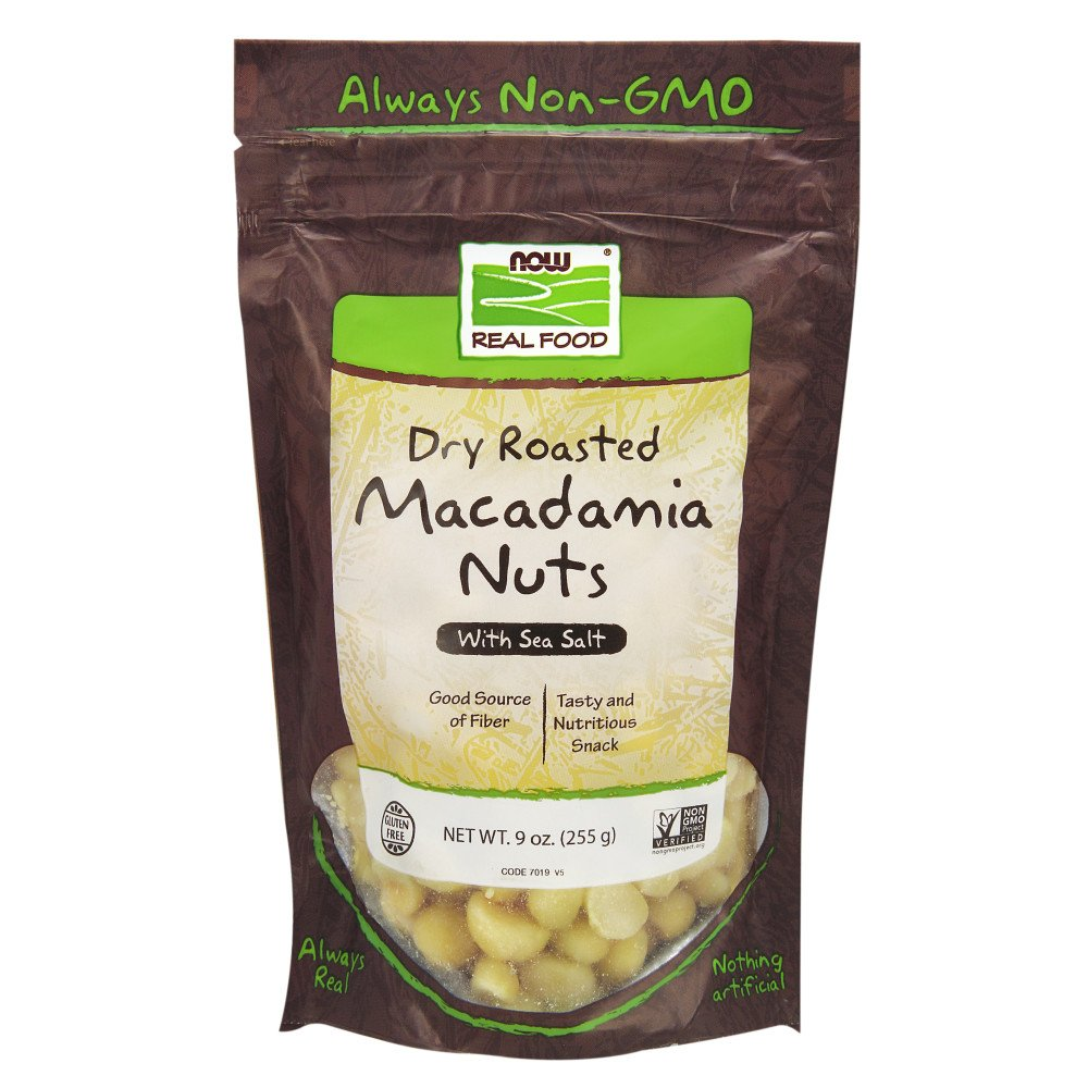 NOW Foods Roasted and Salted Macadamia Nuts, 9-Ounce