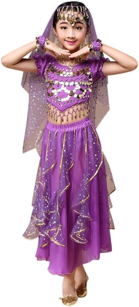 OverDose Ragazze Costumi da Danza del Ventre Fatto a Mano Egitto Danza Top Gonna