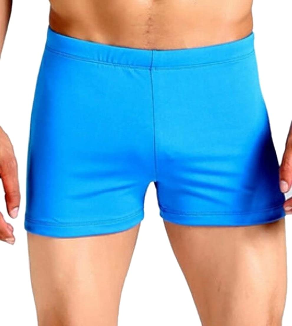 Generic Mens Swimming Trunks Boxer Brief Swimsuit Swim Underwear