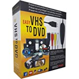 REDGO VHS to Digital Converter USB 2.0 Video Audio Capture Recorder Device for Windows USB Video Grabber, Can Capture Record from VHS V8 Hi8 TV DVD VCR DVR Camcorders Gamebox X360 PS Wii