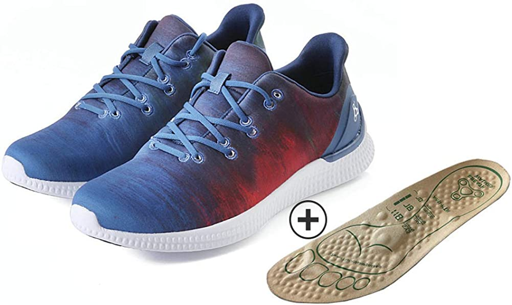BREATH WALKER Sneakers Casual Walking Shoes for Men Women with Magnetic Massage Insoles Included