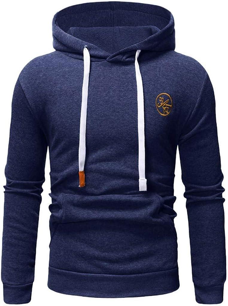 DBHAWK Mens Fleece Hoodies Winter Thermal Sweatshirt Pullover Autumn Winter Casual Hoodies Top Blouse Tracksuits