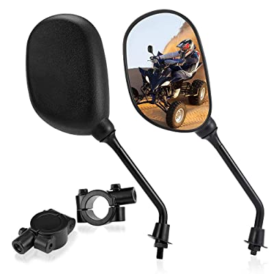 "Set of ATV Rear View Mirror, ISSYAUTO 360 Degrees Ball-Type Side Rearview Mirror with 7/8"" Handlebar Mount Compatible with Motocycle Scooter Moped Polaris Sportsman Honda ATV Dirt Bike Cruiser Chopper: Automotive [5Bkhe2001666]"