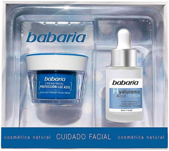 Babaria Estuche con Crema y Suero, 50 ml, Azul: Amazon.es: Belleza