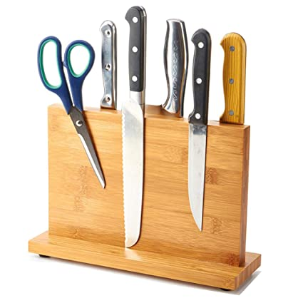 Bon Amazon.com: Magnetic Knife Block Kitchen Knife Block Wooden Magnetic Knife  Holder Bamboo Knife Stand Knife Dock: Kitchen U0026 Dining
