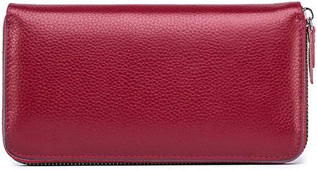 20311 Leather Suede Casual Clutch Color Kalmar Wallet for Women Black Color : Red cm Extra Capacity Travel Wallet Size
