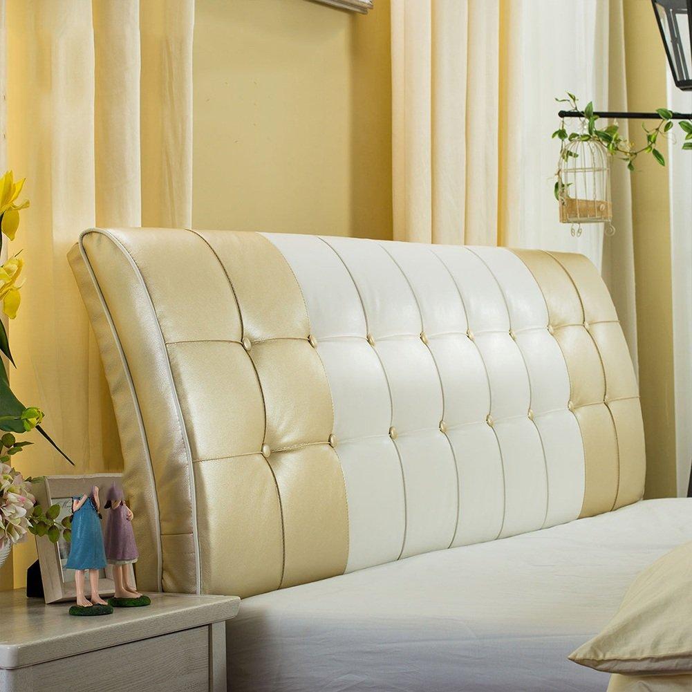 QIANGDA クッション ベッドの背もたれ ベッドバッククッション ヘッドボード付き ベッドサイドソファ スポンジを充填する シングル/ダブル ベッドルーム、 7色 7種類のサイズ オプション ( 色 : シャンパン , サイズ さいず : 120 x 8 x 63cm ) B07B2YVRPR 120 x 8 x 63cm|シャンパン シャンパン 120 x 8 x 63cm