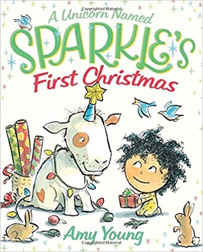 A Unicorn Named Sparkle's First Christmas Book Cover