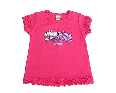 10dcdd20b14a7 A Closet of Her Own Girls' Short-Sleeve Fire Engine Shirt Size 3 Hot