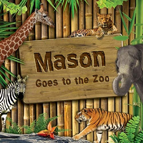 Frecklebox - Personalized Storybook for Mason - Goes to The Zoo [Paperback] - Put Your Child in The Story - Great Gifts to Make Kids Smile
