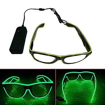 ERGEOB Light Up El Draht Brillen für Party Bar Club EL Augenbrille ...